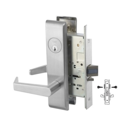 Yale 8818-2FL Classroom Security Intruder Mortise Lever Lock