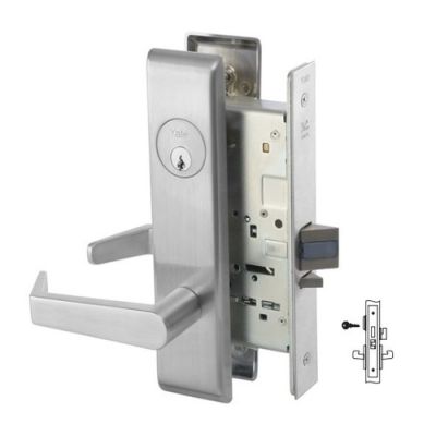 Yale 8822FL Dormitory or Exit Mortise Lever Lock