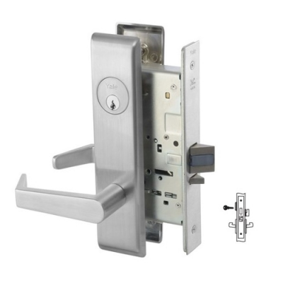 Yale 8861FL Dormitory or Storeroom Mortise Lever Lock