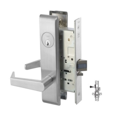 Yale 8867FL Dormitory or Exit Mortise Lever Lock